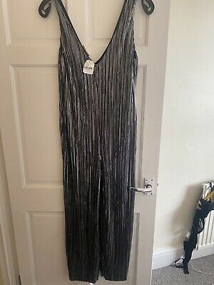 £10.50 • Buy Urban Outfitters Silver Jumpsuit Size M