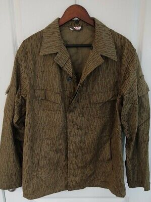 $39 • Buy East German Rain Camo Strichtarn Jacket - Fits L XL See Inside For Measurements