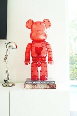 $1999 • Buy Bearbrick Emotionally Unavailable Clear Red Heart 1000% In Hand