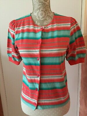 £5 • Buy Vintage Clothkits Multicoloured Button-front Top, Size10-12