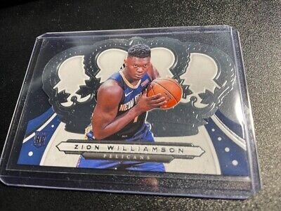 $49.99 • Buy ZION WILLIAMSON ROOKIE CARD JERSEY #1 PELICANS RC 2019-20 Panini Crown Royale Rc