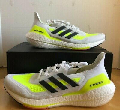 AU149.65 • Buy Adidas Ultraboost 21 'White Solar Yellow' Running Shoes Men's Size 11.5 (FY0377)