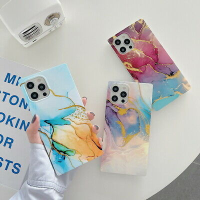AU6.96 • Buy Case For IPhone 12 11 Pro Max XR XS 7 8 Shockproof Square Marble TPU Soft Cover