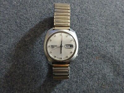 £10.50 • Buy Rare Vintage Seiko 5 Automatic 21 Jewel Day Date Watch 6119