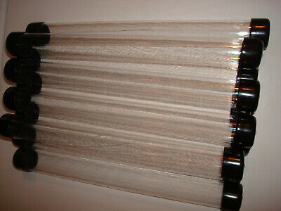 $20 • Buy 10- 1  Clear Round Plastic Tube 11.5 Long, Vinyl Caps, Storage Packing Shipping