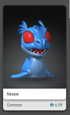 $15 • Buy Veve Nft - Cryptkins ⚡️⚡️ Nessie Common Fa Sold Out Digital Art 3d Series 1