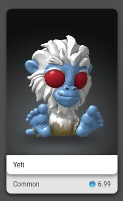 $15 • Buy VEVE NFT COLLECTIBLE Cryptkins Common Yeti First Appearance Series 1 (Sold Out)
