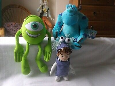£10.99 • Buy 3x Monsters Inc Soft Toy Bundle 9  Boo Girl,14  Talking Mike &13  Soft Sulley