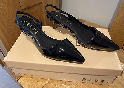 £8 • Buy Ravel Beaumont Black Patent Kitten Heel Shoes Size 3. New With Box