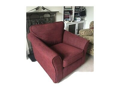 £50 • Buy Marks And Spencer Abbey Chair In Brushed Herringbone Dark Red - Current Item