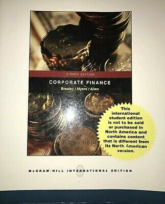 £9.99 • Buy Principles Of Corporate Finance By Brealey, Myers (Paperback, 2005)