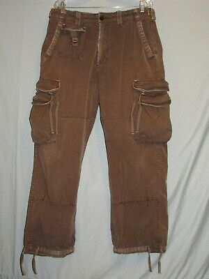 $34.99 • Buy Ralph Lauren Polo Jeans Military Cargo Pants 36x32 (actual) Distressed