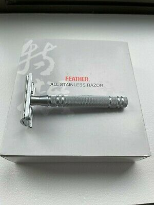 $56 • Buy Feather AS-D2 All Stainless Steel Double Edge Safety Razor *LNIB*