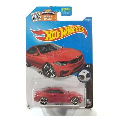 $0.99 • Buy Hot Wheels BMW M4 Red 2016 #189 BMW Series #4/5 New On Card