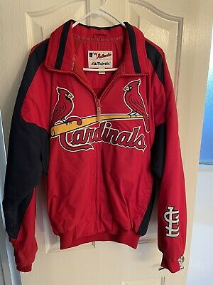 $75 • Buy MAJESTIC Authentic MLB St. Louis Cardinals Red Dugout Jacket Size Medium