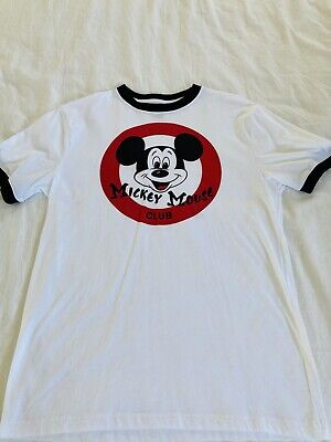 $8.50 • Buy Disney Parks Mickey Mouse Club Logo T-Shirt For Men's Size Small
