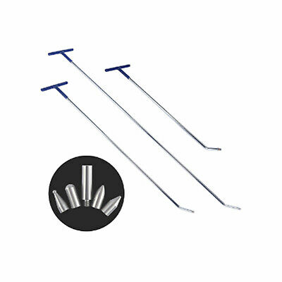 £36.76 • Buy Car Paintless Dent Repair PDR Tools Spring Steel Rods 3PCS Puller Hail Removal