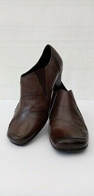 £25 • Buy Jana Ladies Shoes Size 5 Fitting H Wide Khaki Brown Leather Square Toe Slip On