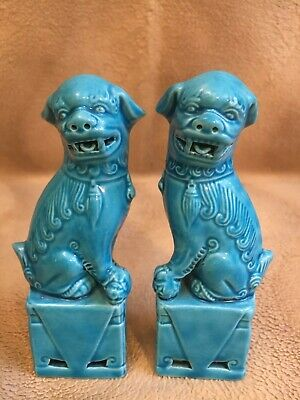 £11.50 • Buy Very Fine Of Antique Chinese Turquois Small Foo Dogs Guardian Lions