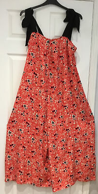 AU41.47 • Buy Free People Jumpsuit Red Floral Easy Fitting Size S