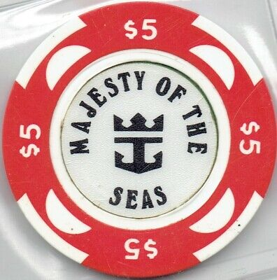 $7.99 • Buy $5 Royal Caribbean Majesty Of The Seas Bud Jones WET CHIP, Shipping Discounts