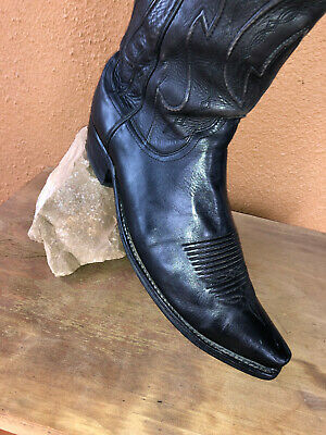 $80 • Buy Vintage Lucchese 11D Ranch Hand Leather Western Cowboy Boots USA