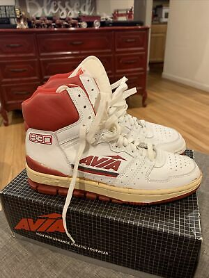 £46.73 • Buy Vintage AVIA BasketBall 830R White Basketball Shoes 7.5 White Red Leather