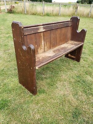 £90 • Buy Antique Church Pew Monks Bench Hall Seat Settle With Umbrella Stick Holder