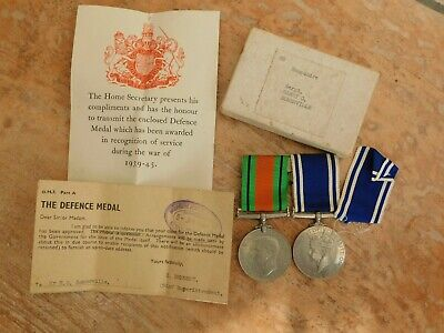 £59.99 • Buy Ww2 Police Hampshire Sergeant Somerville Long Service + Defence Medal + Box