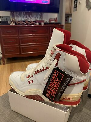 £46.73 • Buy Vintage AVIA 875 Spider Arc High Red White Basketball Shoes 9 Please Read