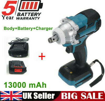 £38.99 • Buy 18V Cordless Impact Wrench Brushless Driver Torque Replace W/ Charger + Battery