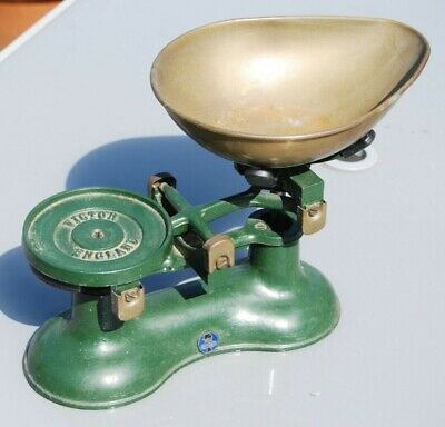£12.50 • Buy Cast Iron And Brass Kitchen Scales By Victor Of England