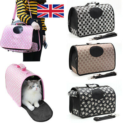 £10.98 • Buy Pet Dog Cat Puppy Portable Travel Carry Carrier Tote Cage Bag Crates Kennel