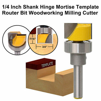 £7.99 • Buy 1/4 Inch Shank Hinge Mortise Template Router Bit Woodworking Milling Cutter