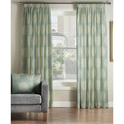 £38.67 • Buy Montgomery 1 Pair Lined Curtains Pencil Pleat Heading, Duck Egg Blue 228x228cm