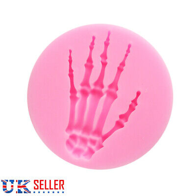 £2.58 • Buy Skeleton Hand Halloween Cake Decorating Icing Topper Silicone Mould Resin W