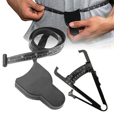 £5.39 • Buy 2pcs Body Fat Calipers Weight Loss Tape Measure Tester Fitness Analyzer*