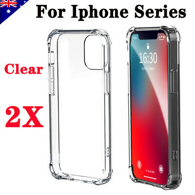 AU5.99 • Buy 2X Shockproof Bumper Case Clear Cover For IPhone 12 Mini 11 Pro MAX XS XR 6/7/8