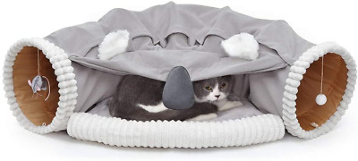 £39.81 • Buy Cat Tunnel Bed With Cushion Mat, Cat Tunnel Toy Play Center With Collapsible And