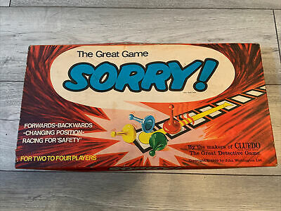 £12.50 • Buy Vintage  Sorry!  Family Board Game. By Waddingtons Games 1969   Good Condition
