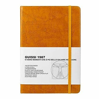 AU22.49 • Buy Guissi Classic Dotted Grid Bullet Notebook Journal Dot Hard Cover A5 Premium 80g