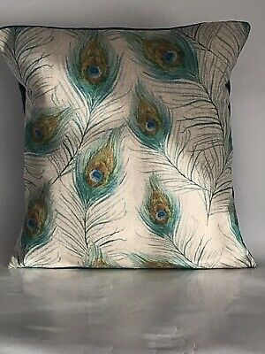 """£9.99 • Buy Peacock Feather Pattern Cushion Cover 12""""x12"""" **Last Two**"""