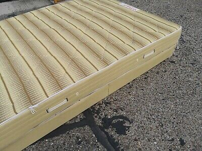 £35 • Buy Double Bed Folding Base With Mattress Vintage Slumberland.On Castors. Clean Used