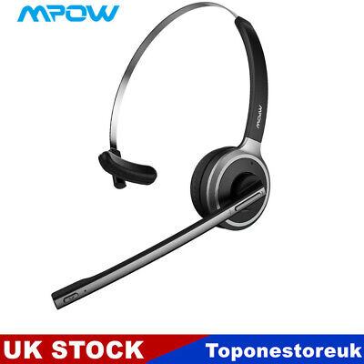 £18.89 • Buy Mpow Bluetooth Wireless Headphones Headset With Mic For Trucker Driver Handsfree