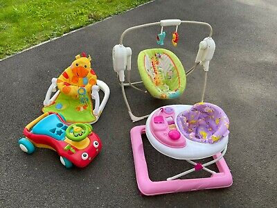£40 • Buy Fisher-Price Mothercare Toy Bundle Baby Swing Walkers And Sitting Support
