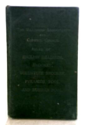 £10.40 • Buy The Billiards Association And Control Council (Unknown - 1936) (ID:81070)