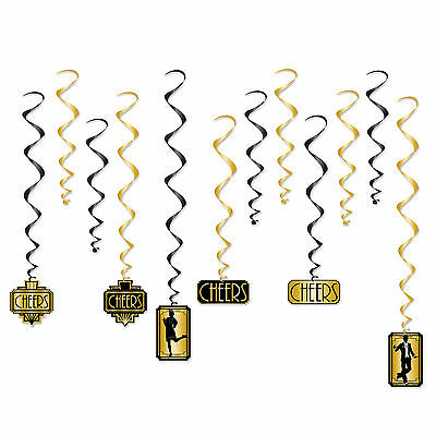£7.61 • Buy GREAT GATSBY 20's PARTY FLAPPER DANCER CHEERS SWIRLS NEW YEARS EVE DECORATION