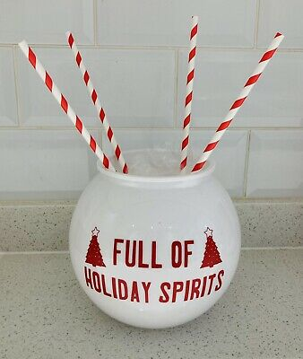 £4.99 • Buy Personalised Cocktail Fish Bowl Christmas New Years Eve Any Name Or Logo New