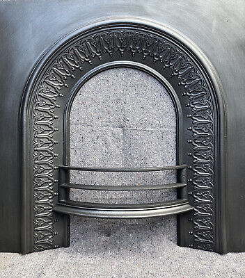 £150 • Buy Antique Cast Iron Victorian Style Fire Surround / Fireplace Insert, Arched