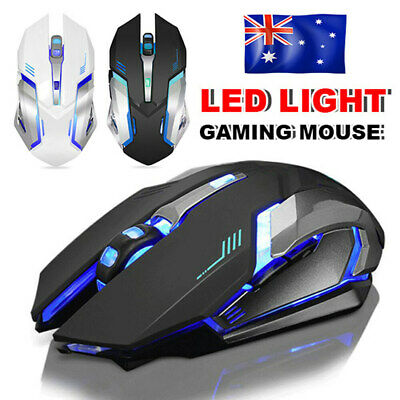 AU17.95 • Buy Wired Wireless Gaming Mouse USB Optical For PC Laptop LED Light Rechargeable